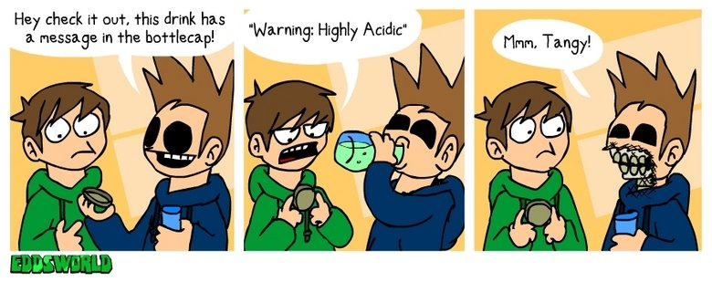 Highly Acidic. Yowch!. Hey check if out, this drink has EL massage in the : ! : Highly Acidity