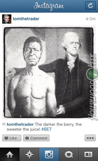 Historical Instagram - Thomas Jefferson. More Historical Instagram: hollywoodleek.com/2012/10/if-historical-figures-had-instagram-18-pics/. The darker the berry