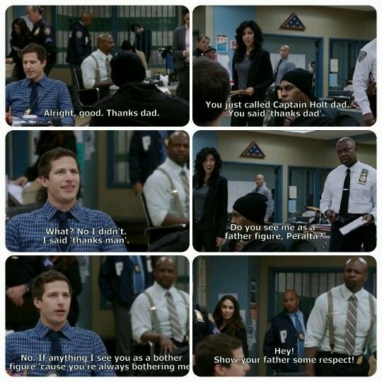 Holt the Best Father Figure. .. Missed the best part when they talk about playing catch