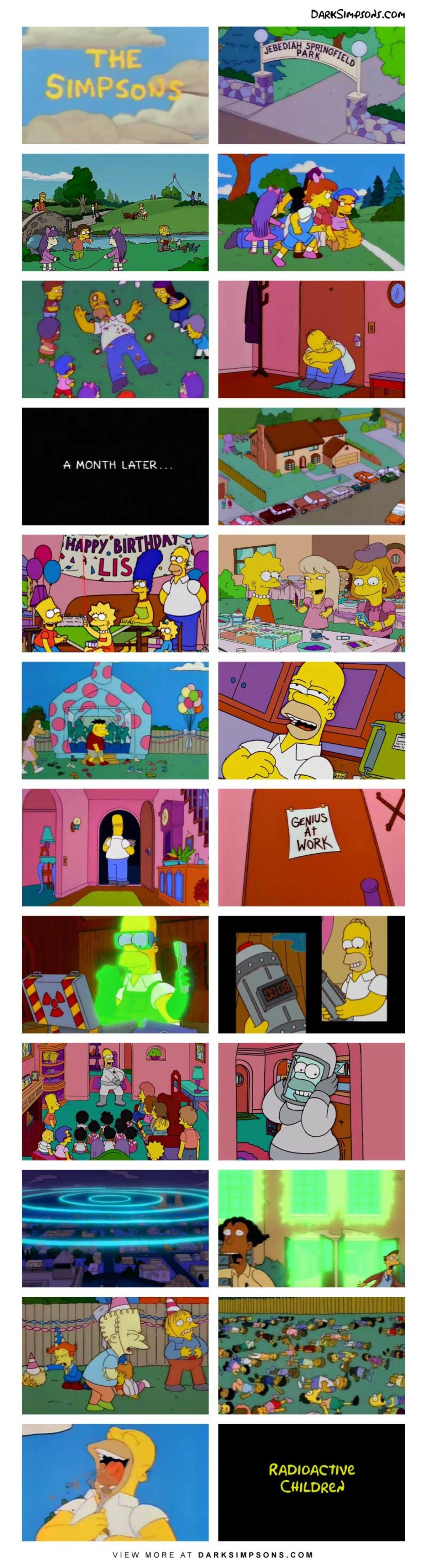 Homer: Rotten. Stinky. Hate world. Revenge soon. Take out on ever. . con A MONTH LATER RADIOACTIVE VIEW MORE AT . COM. Did he eat them?