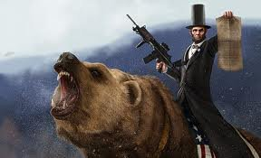 Honest Abe PWNS Coke Grizzly. obviously im not getting front page with this but oh well.