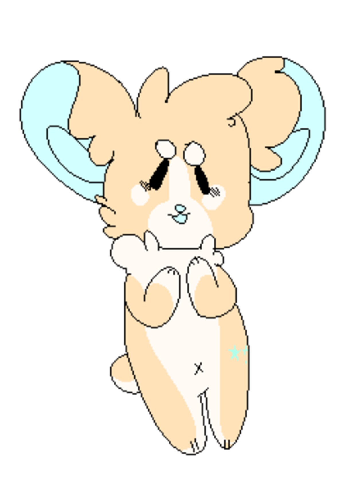 hope yall like chibis. this is puffs he corgi (also kind of taking a break from my other stuff and just having some fun with some doodly bois) you can see my ot