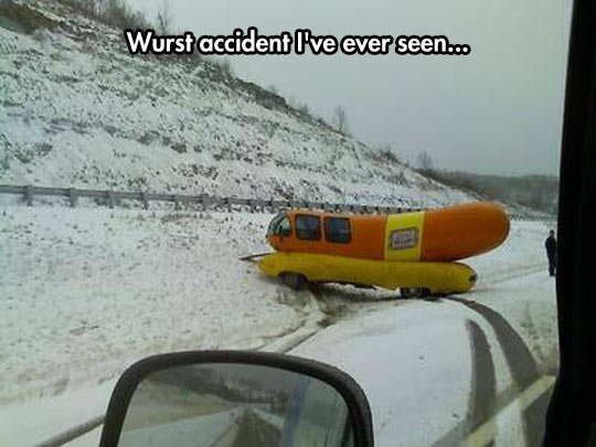 Hotdog pun accident. .. German Witze are the Wurst