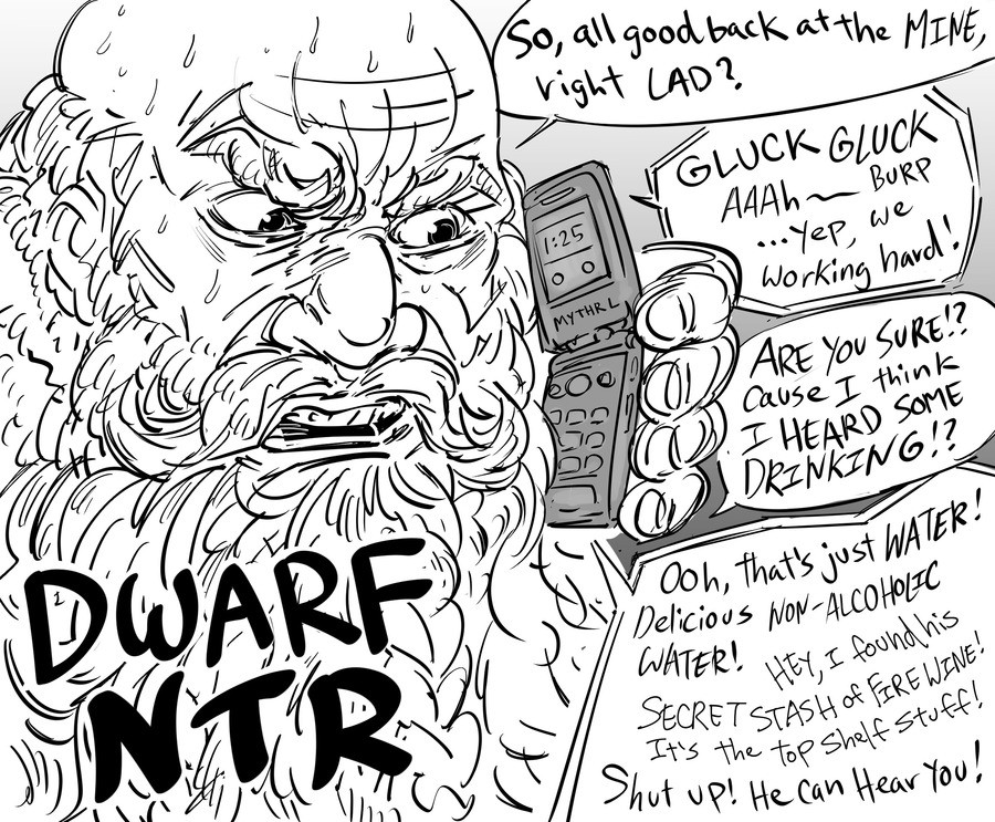 How a dwarf is ed.. .. this is worse than actual ntr