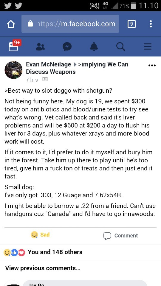 How to slot doggo?. . Evan h supplying We Can an Discuss Weapons way to slot degre with shotgun? Not being funny here. My dog is 19, we spent today on antibioti