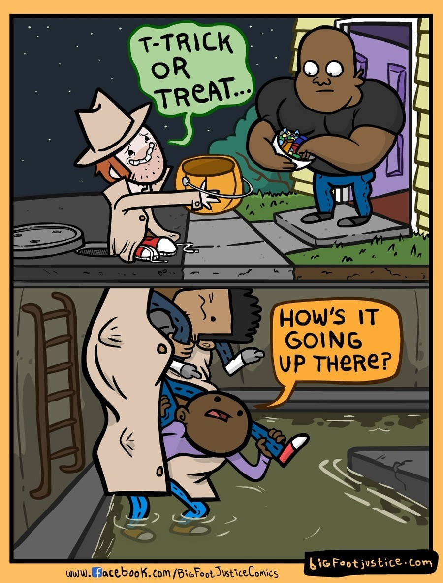 How to Trick-or-Treat as Adults. . d ill. why not just get a better disguise?