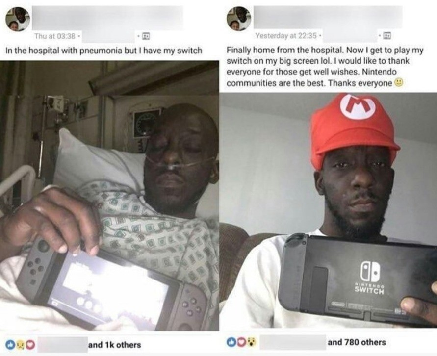 How wholesome. .. Awwww, how sweet. Can anyone tell what game his playing?