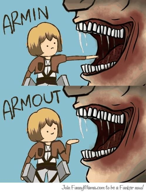 Hue Hue Hue. I made a new channel for all of the Attack on Titan posts.. not even a week and this image as been reposted so may times