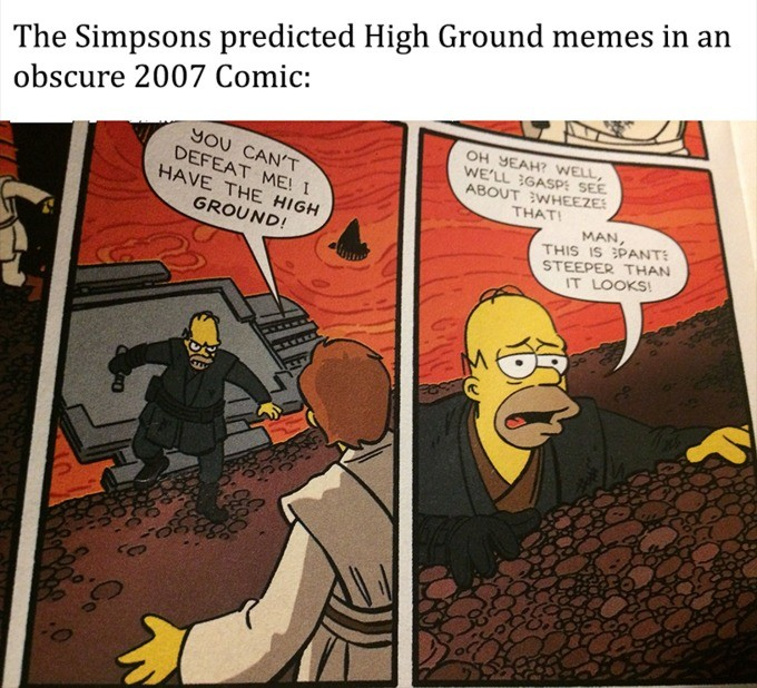 hugh. join list: Cartoonsandlolis (1695 subs)Mention History.. How? Its just a parody of the high ground scene from Revenge of the Sith.