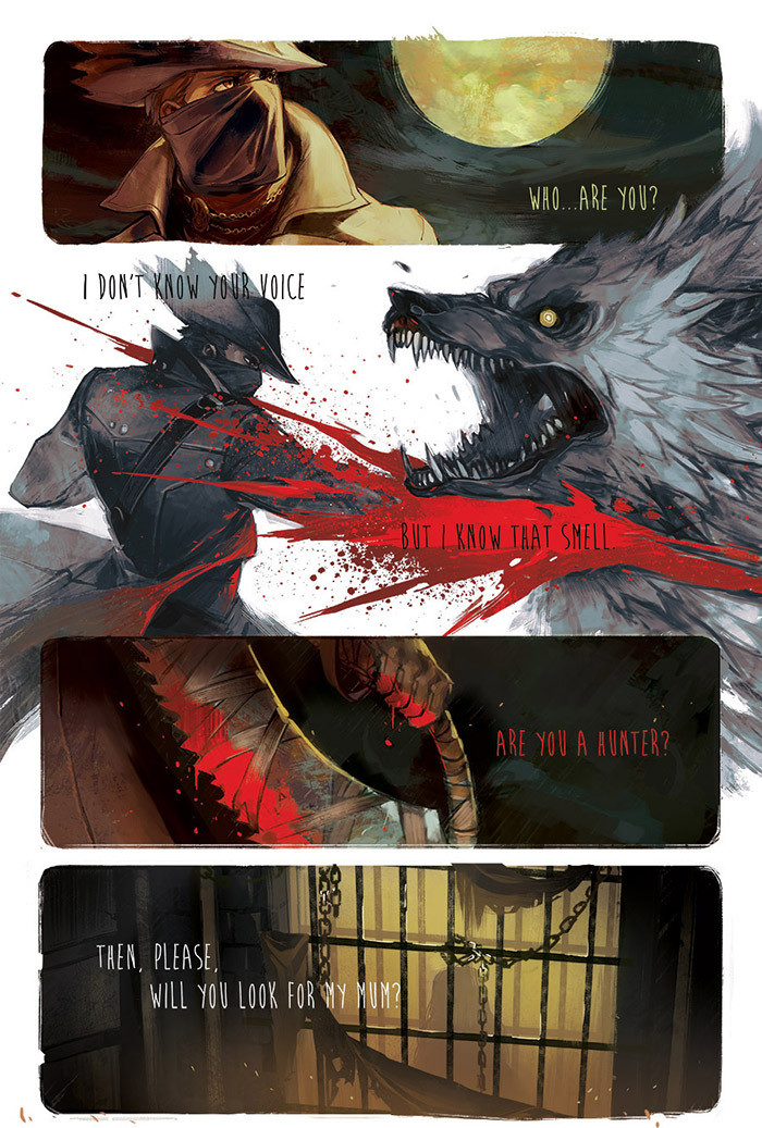 Hunter. join list: FeelStuff (86 subs)Mention Clicks: 682Msgs Sent: 1195Mention History join list:. Bloodborne fancomic idea: The Hunter (player character) takes Gascoigne's daughter and trains her to also be a hunter so that she wouldn't be alone and could de