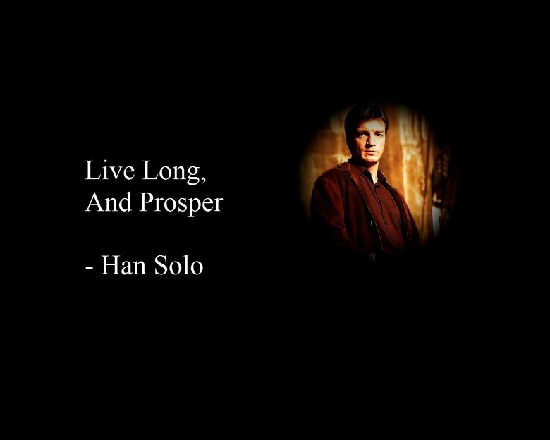 I love Star Trek. Lord of the rings is the best.. And Proudper Han (Solo. My favourite