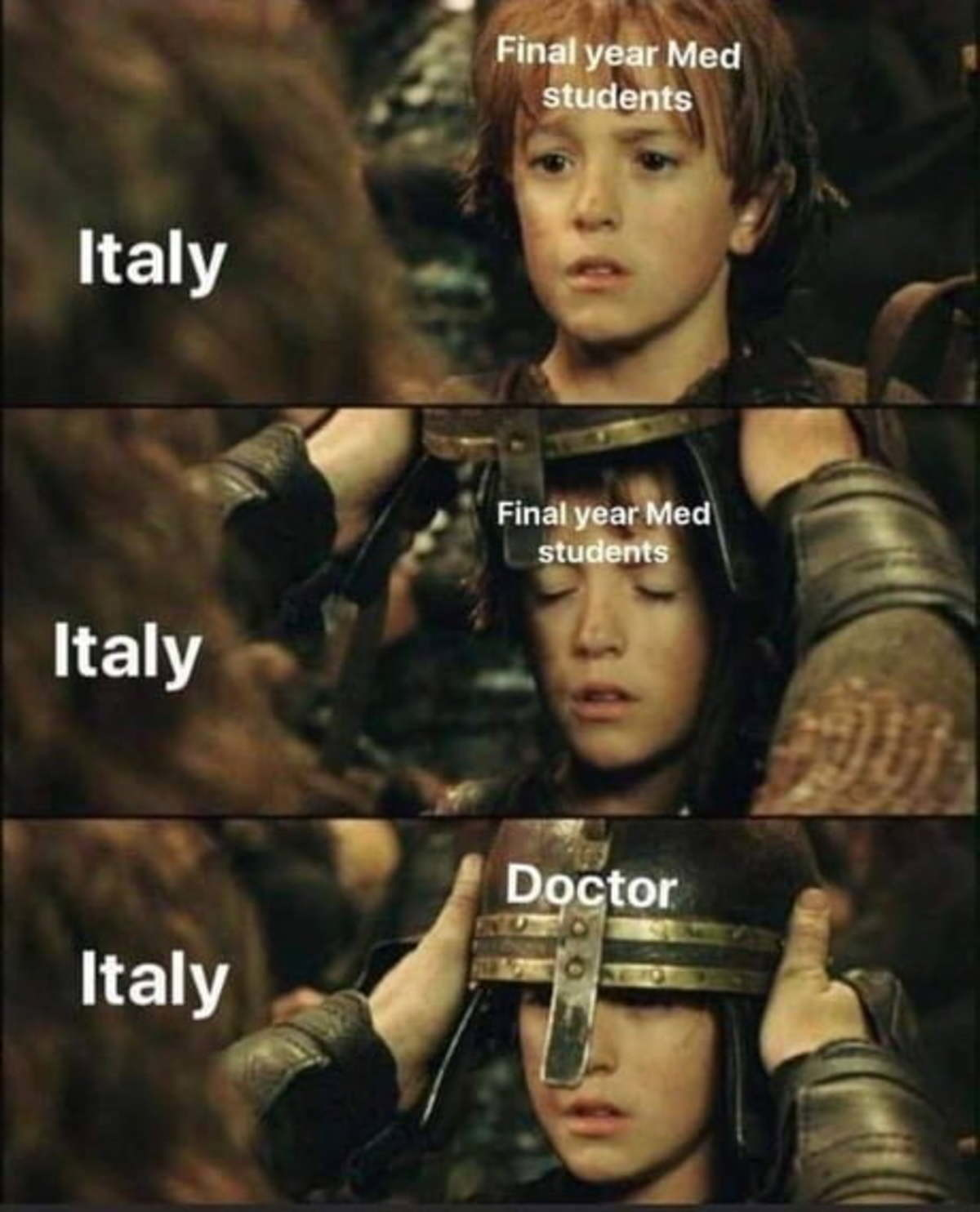 In Italy, things are getting dire.. .. Oh yeah we're doing that indeed At first we were doing it a few months ago because our hospitals are critically understaffed (no money into the healthcare syste