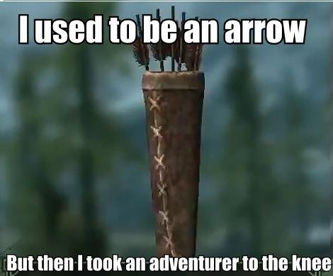 ing arrows (CHECK DESCRIPTION). made a skyrim gif! I originally saw this on Know Your Memes and posted it to the skyrim channel because I hadn't seen it on FJ y