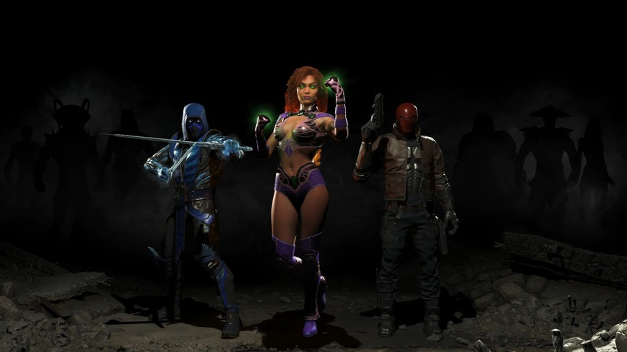Injustice 2: Red Hood, Starfire, Sub Zero. Can also make out Manta and Riaden Admin Fix YouTube Timeout Problem.. If black mantas playable, what happens in the atlantis stage transition that he appears in? Also, two to many mk fighters if thats raiden