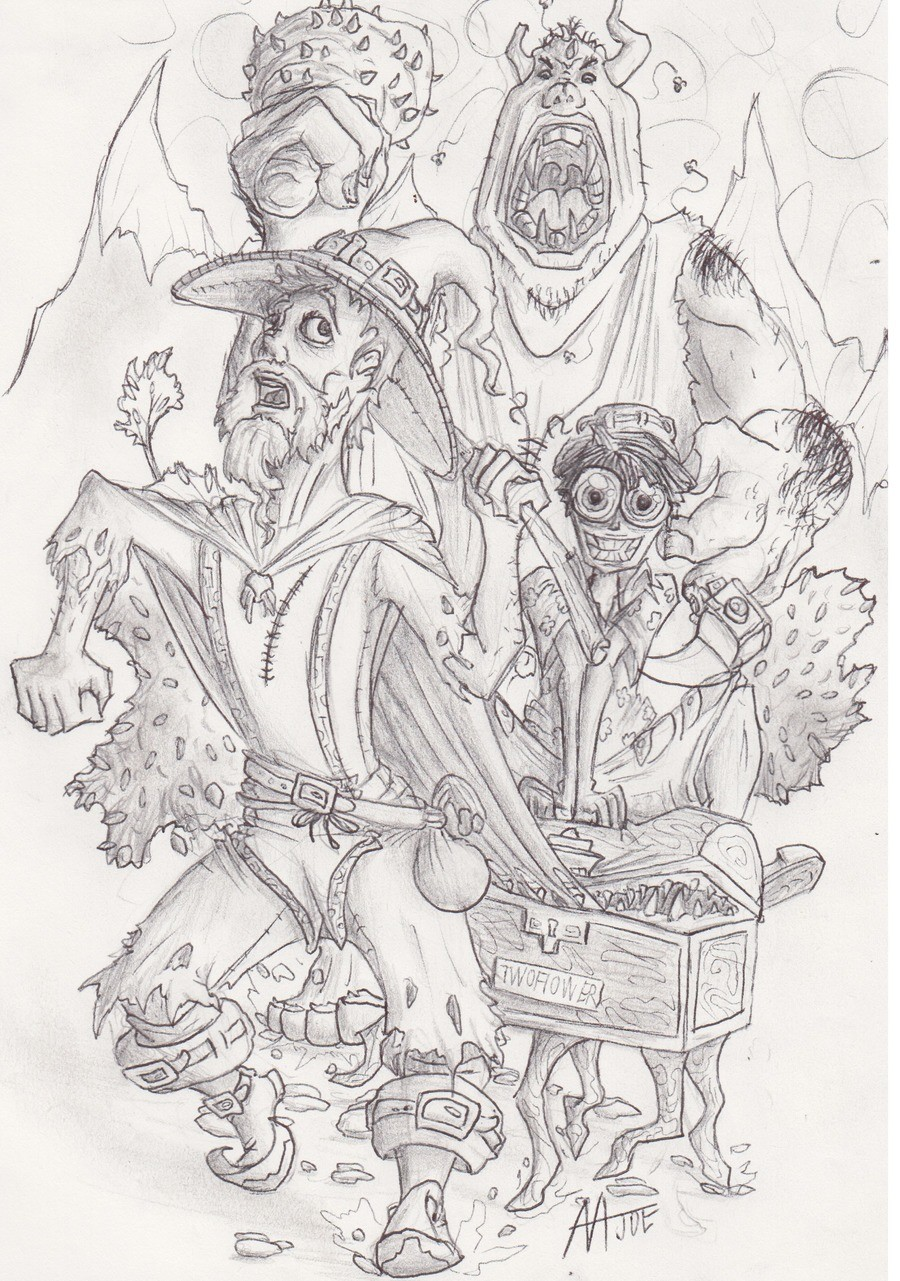 Inktober Best Book Series. Critques and ideas welcome, I love to hear them and so sue me I use lead to shade, blame my hand.. I love Discworld, but I can never unsee Rincewind's dwarf legs