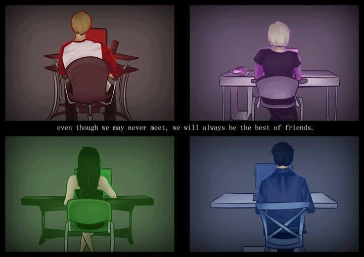 internet friends. This gave me a lot of feels... I guess we don't make the same kind of friends