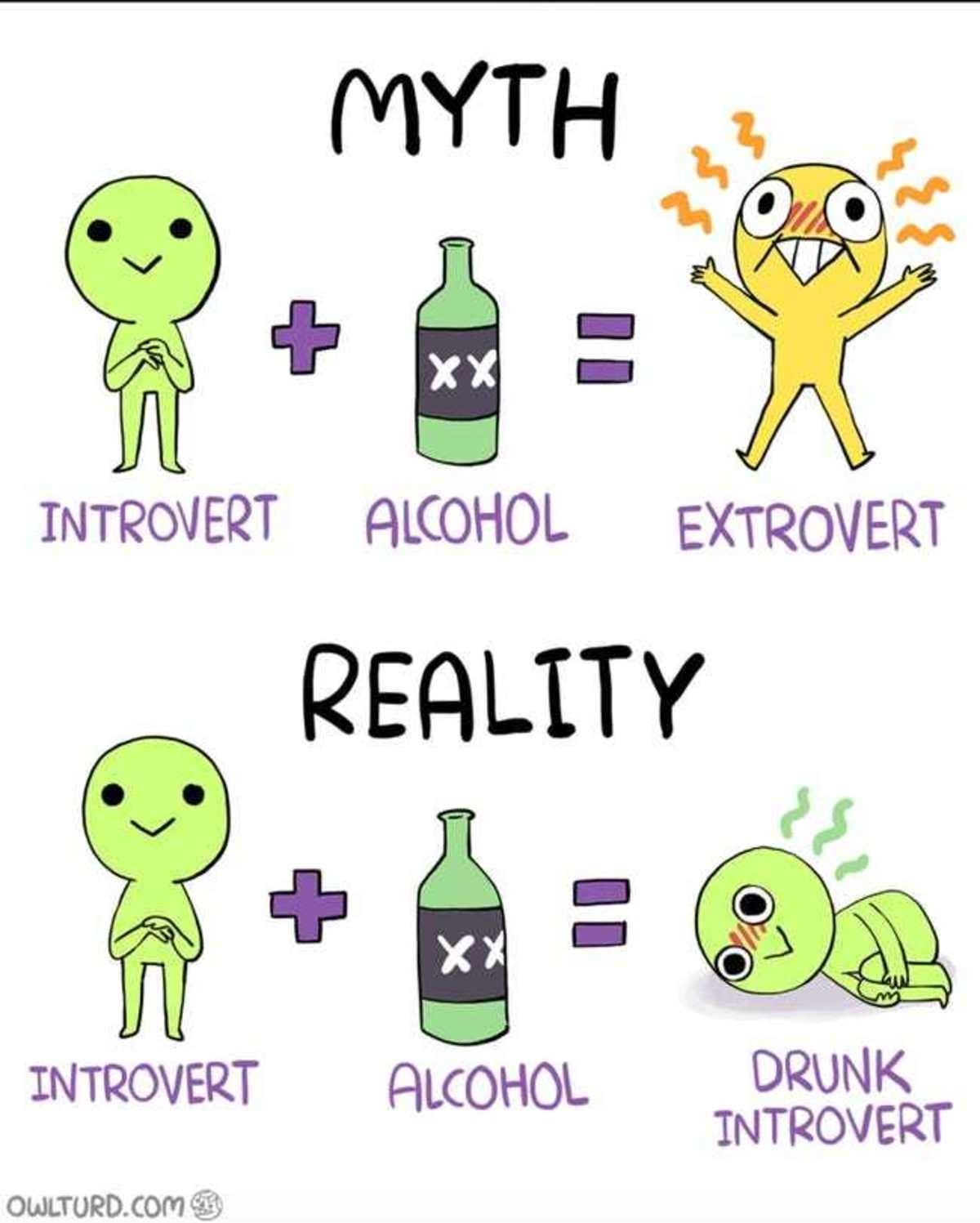 Introvert. .. It's funny cuz it's relatable, which ironically makes it not funny because it hits too close to home.