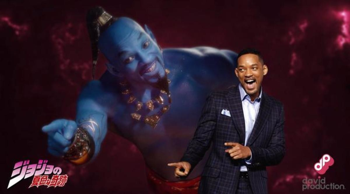 Is that an Aladdin reference?. .. Stand Name: 「Gettin Jiggy With It」 Stand Master: 「Will Smith」