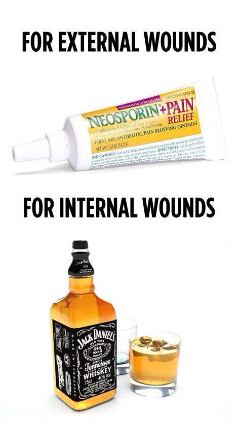 It never fails. . FOR EXTERNAL WOUNDS. For the inbetweens.