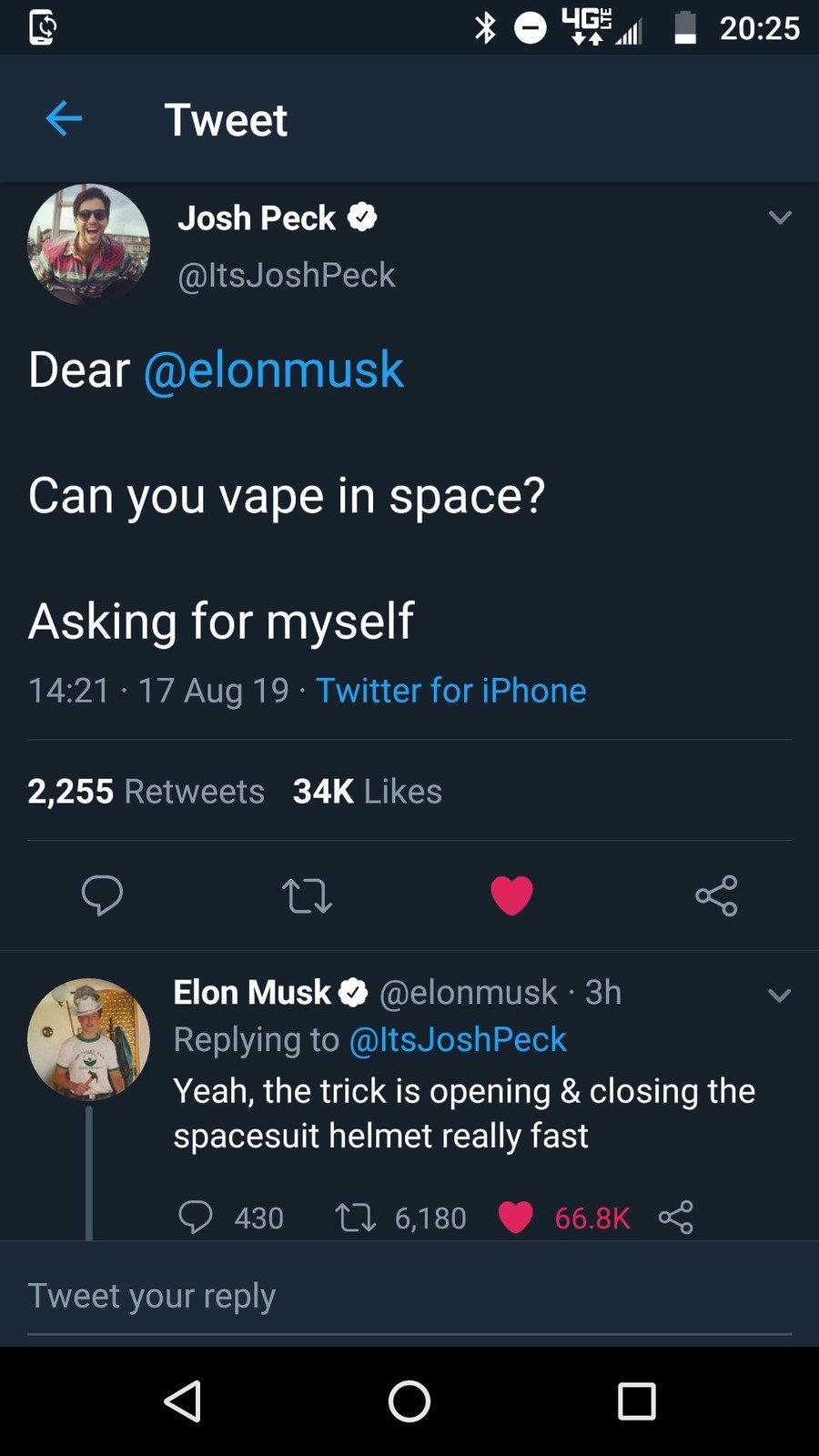 Jesus Christ. .. if I ever earn enough to make a difference on this planet, I hope I am 1/8 as cool as Elon