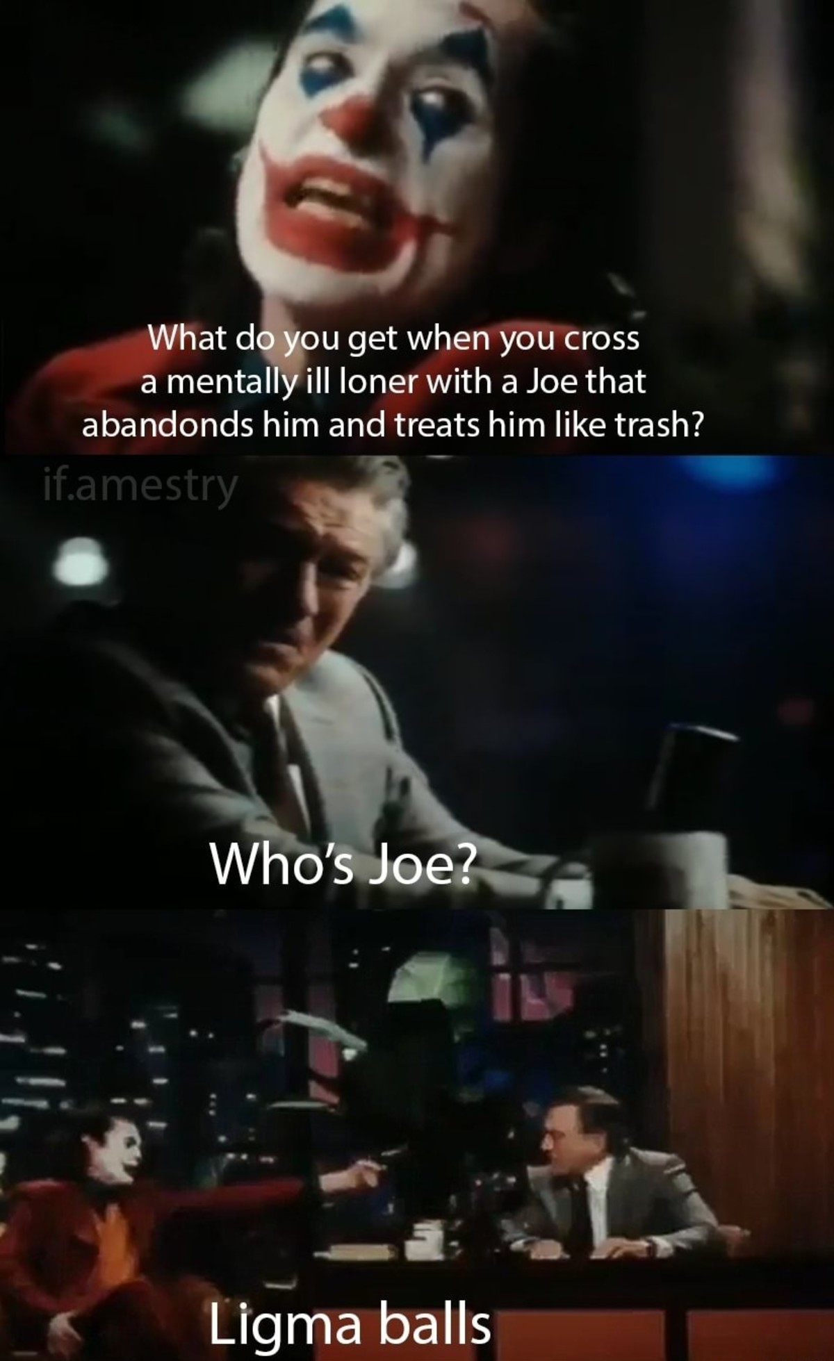 Joe. .. It's nice but I'm sad that I know it's going to happen before I watch it in theaters