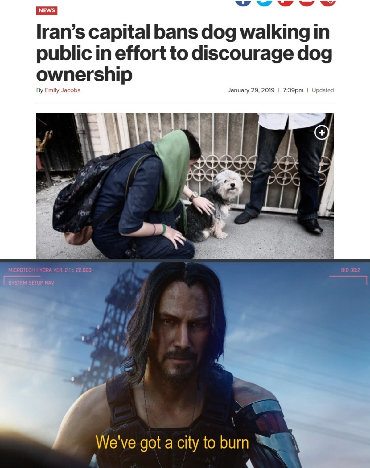 John Wick 2077. .. My most radical and uncompromising prejudice is that cultures that view dogs negatively are inherently inferior cultures and of objectively less value to the wo