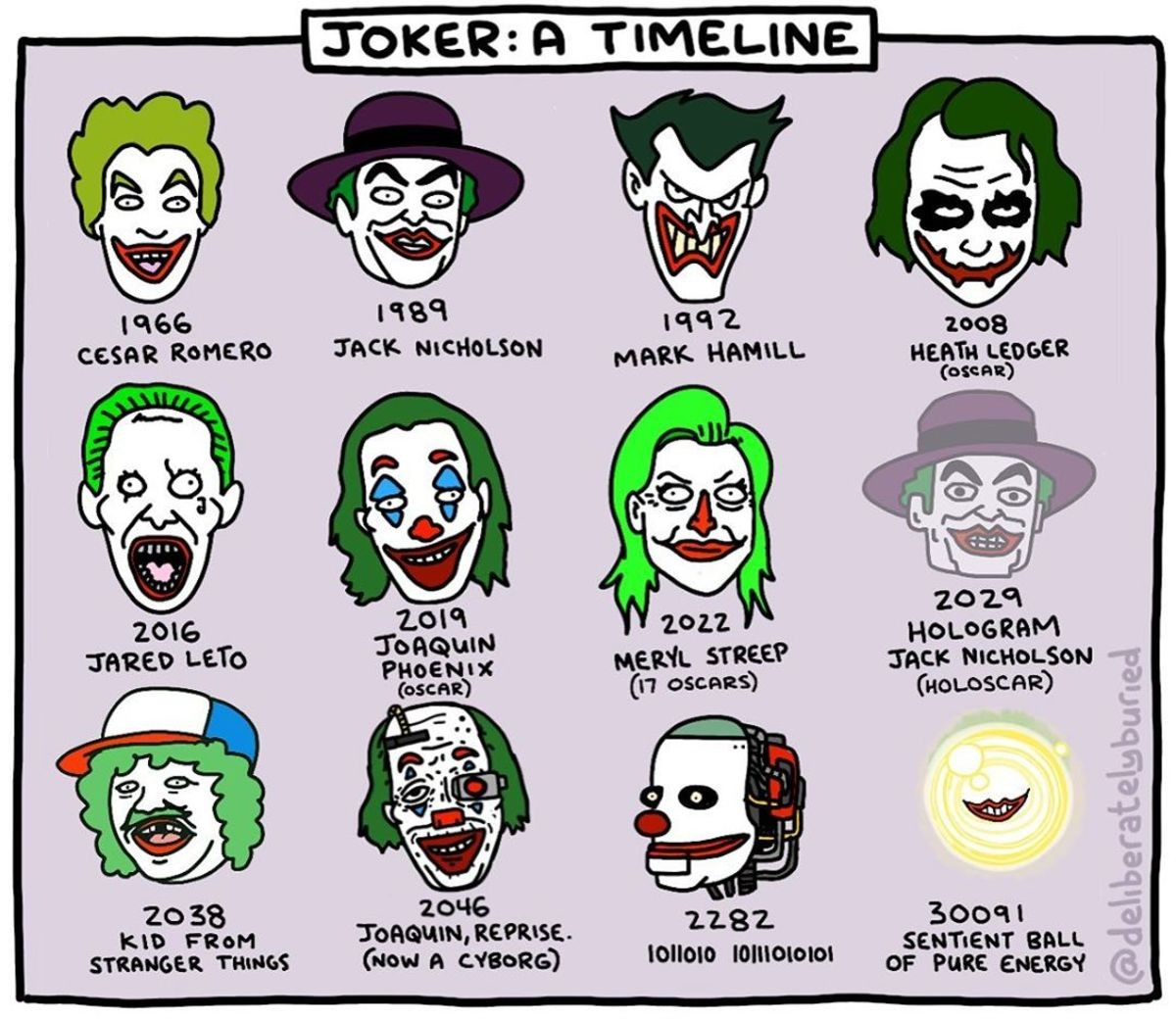 Joker incarnations. .. I liked Nicholson's portrayal.
