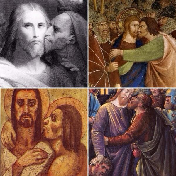 "Judas ... Personal Space. .. ""I am totally going to betray you Jesus"" ""Dude back off, do you brush your teeth"""