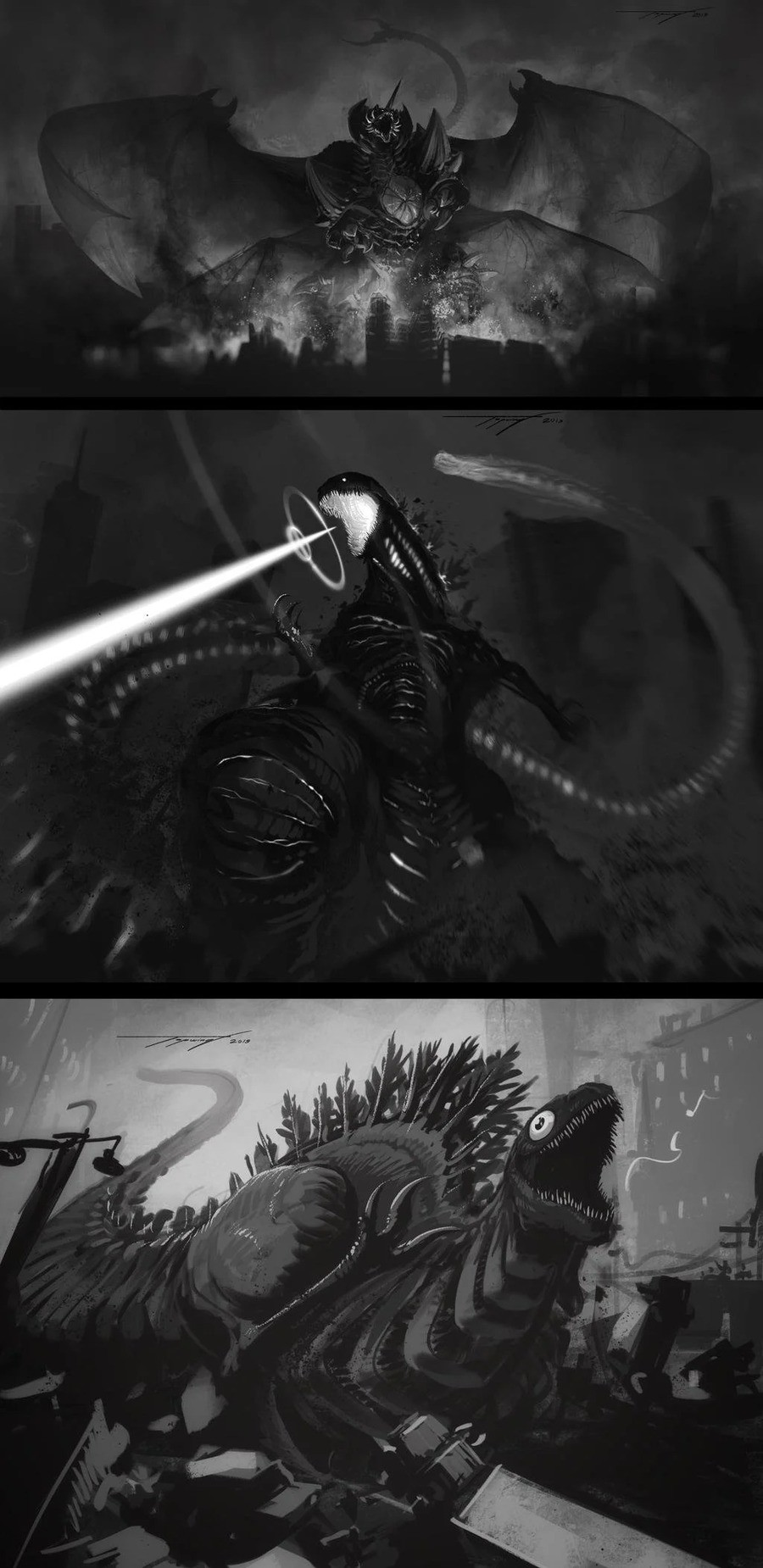 Kaijus by Tapwing. .. Destoroyah is the coolest concept that was never further explored. He's essentially the personification of the horrific machinations of war and weapons too dead