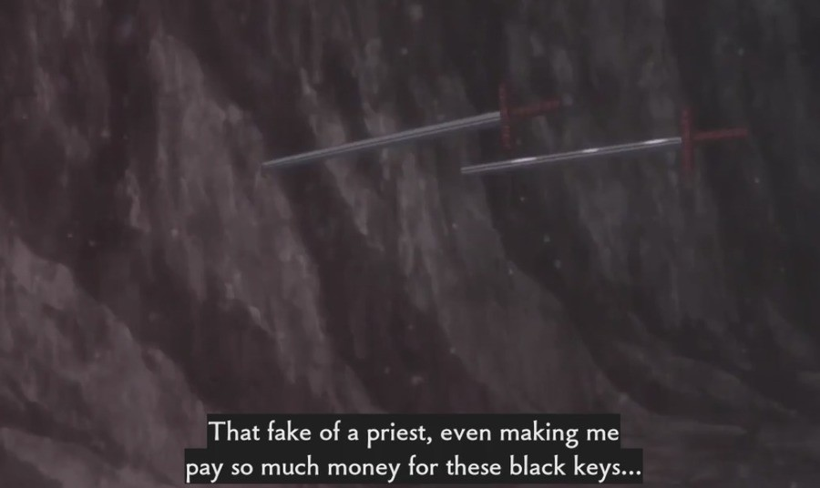 Kaleid Shirou tells it like it is. . That fake of a priest, even making me pay so much money for these black keys.... Rejoice