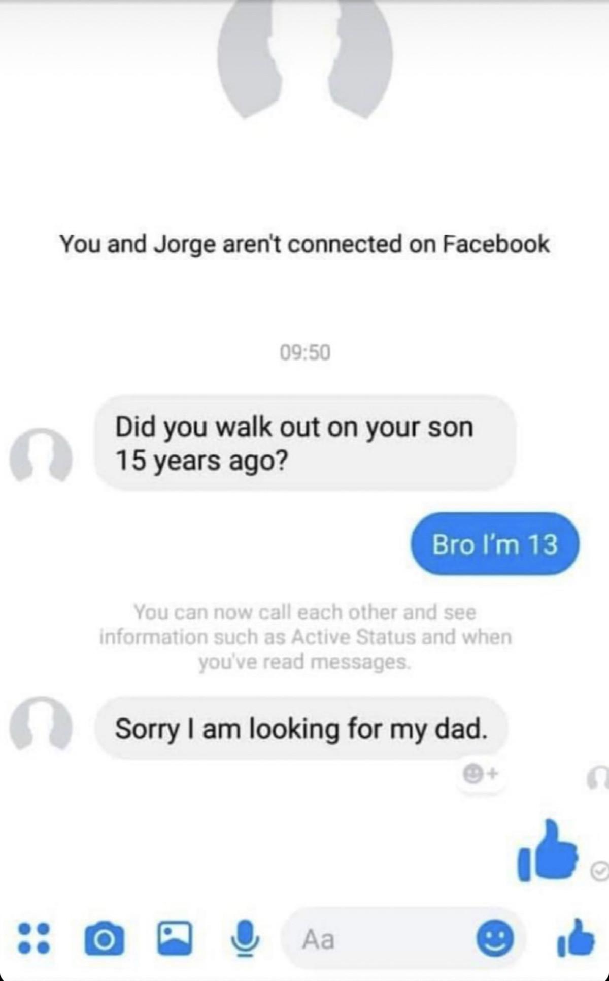 Kinda sad tbh. .. Twist. His dad shook him again