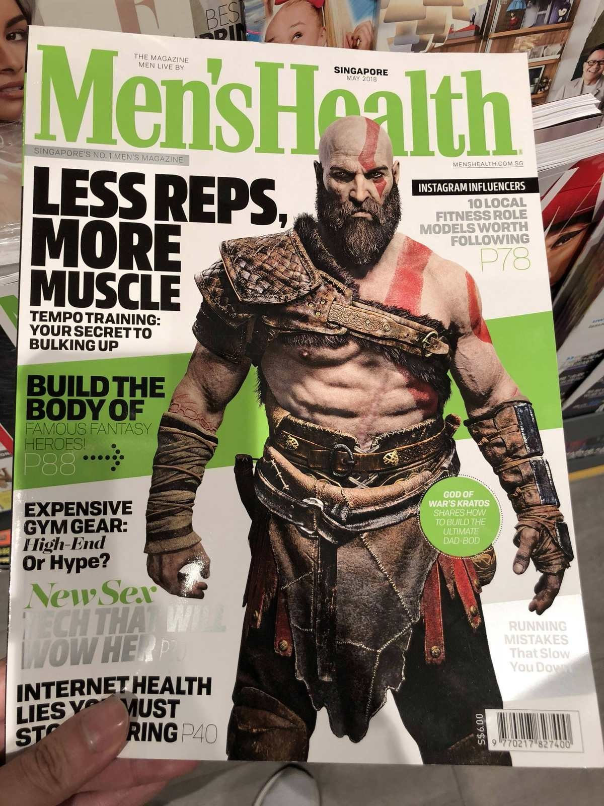 Kratos is on this months cover of Men's Health. join list: VideoGameHumor (1686 subs)Mention Clicks: 564539Msgs Sent: 5309451Mention History. THE MAGAZINE MEN w