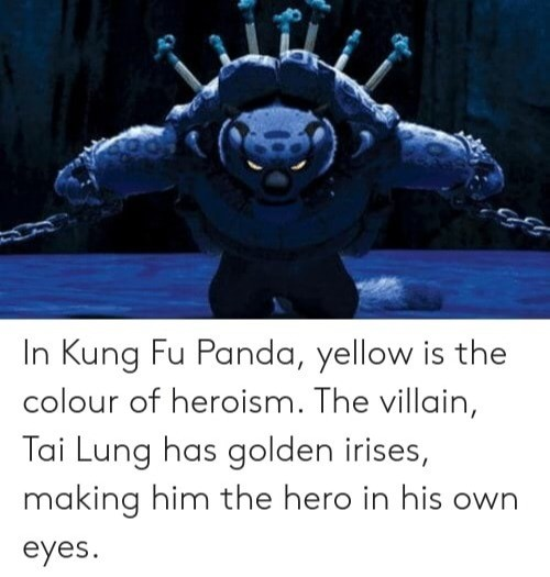 Kung Fu Panda. .. Tai lung was more of a victim than a villain.