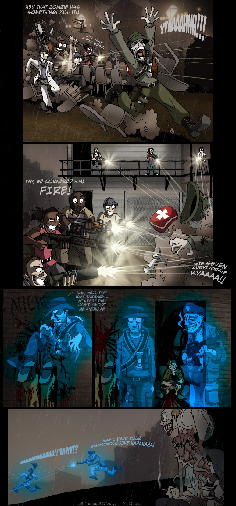 L4d2: The Passing. I bet this was your first reaction to seeing the fallen survivor.<br /> I found this on Deviantart on IsisMasshiro profile. My THAT HAW