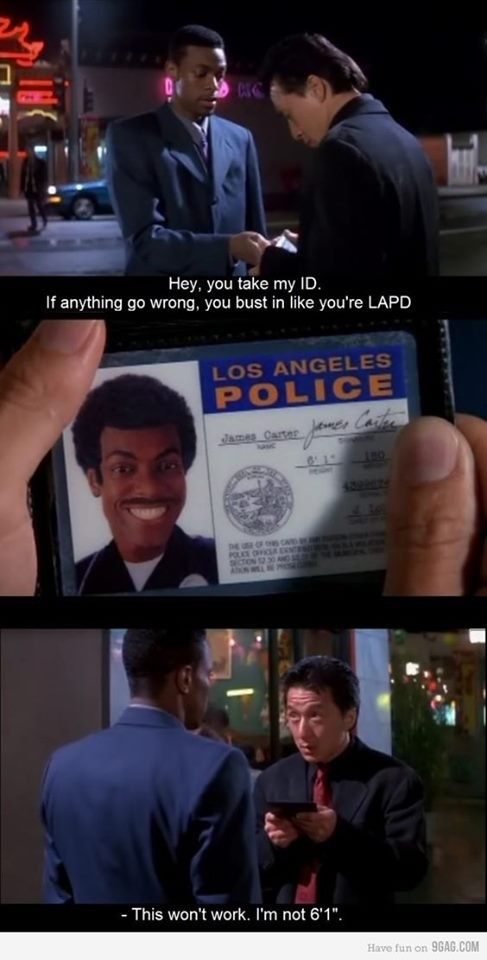 LAPD. .. lol I must have watched this movie 100 times I never really caught the subtlety of this one