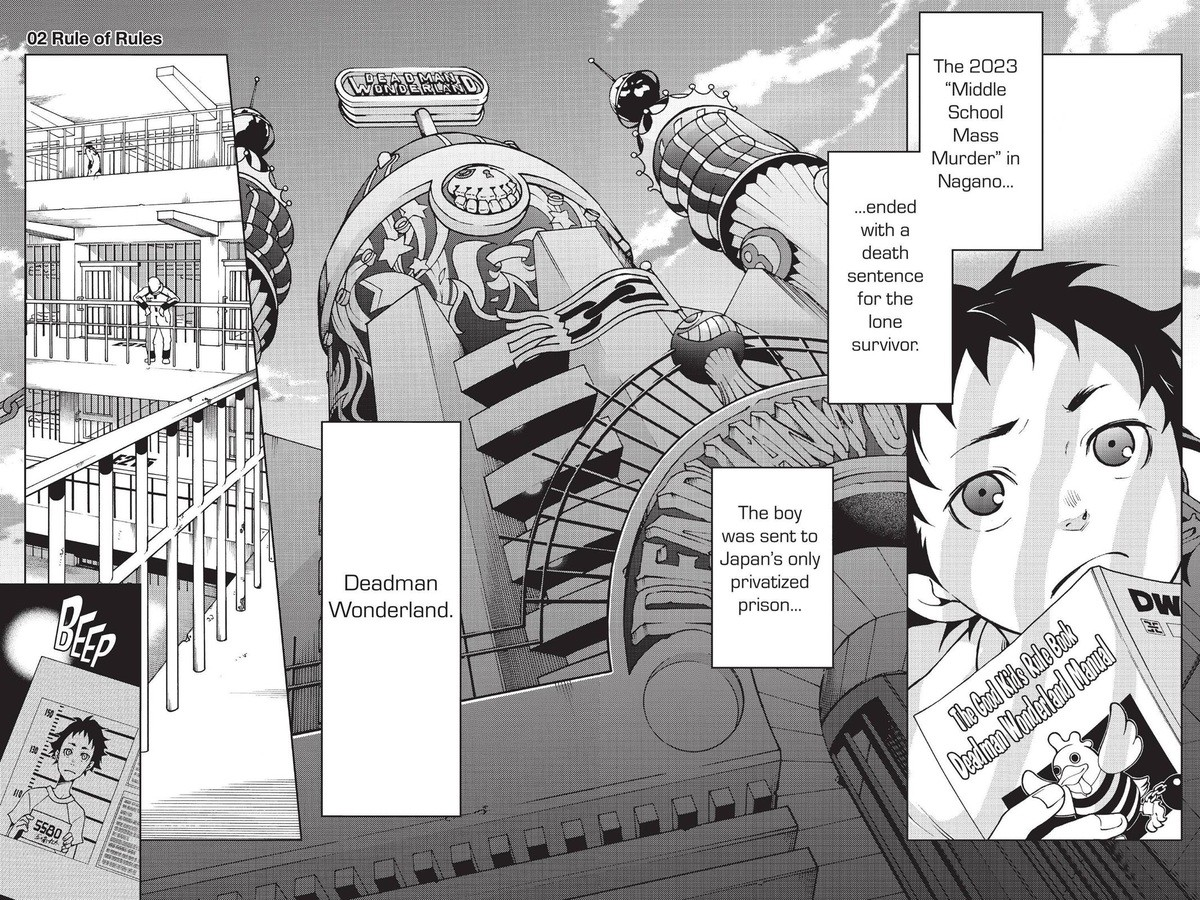 Legend's Manga Picks #5 FIXED. Deadman Wonderland A boy in school is put on trial for murdering his classroom, is found guilty, but is innocent, and must now wo