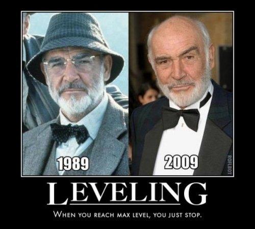 leveling. .. i loled