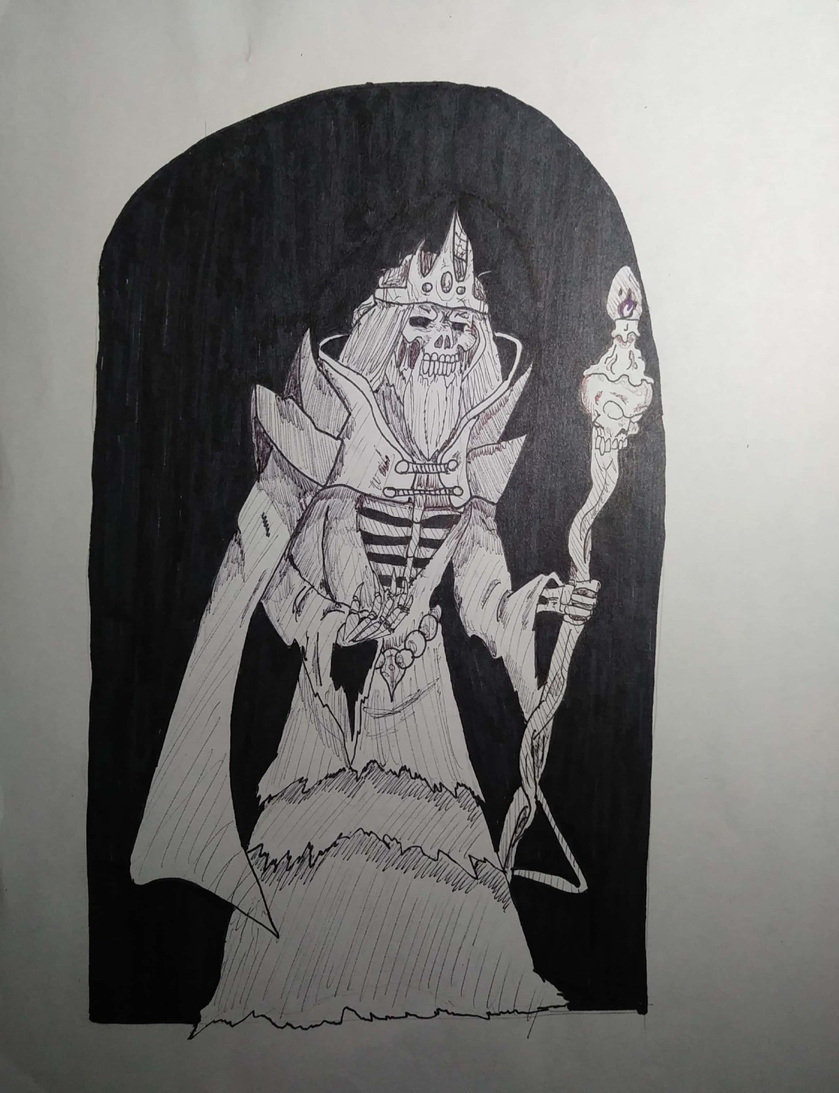 Lich Inktober Day 8 Frail. Day 8: Frail, so I thought I would draw a frail looking lich guy... Maybe he's frail but he's dapper.