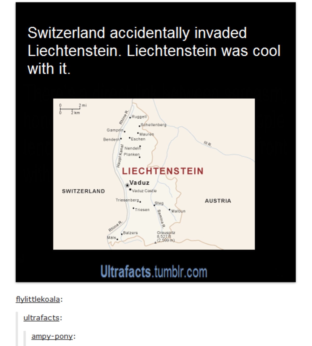 Lichtenstein is a cool name. .. That seems less like an invasion and more like an accidental trespass.