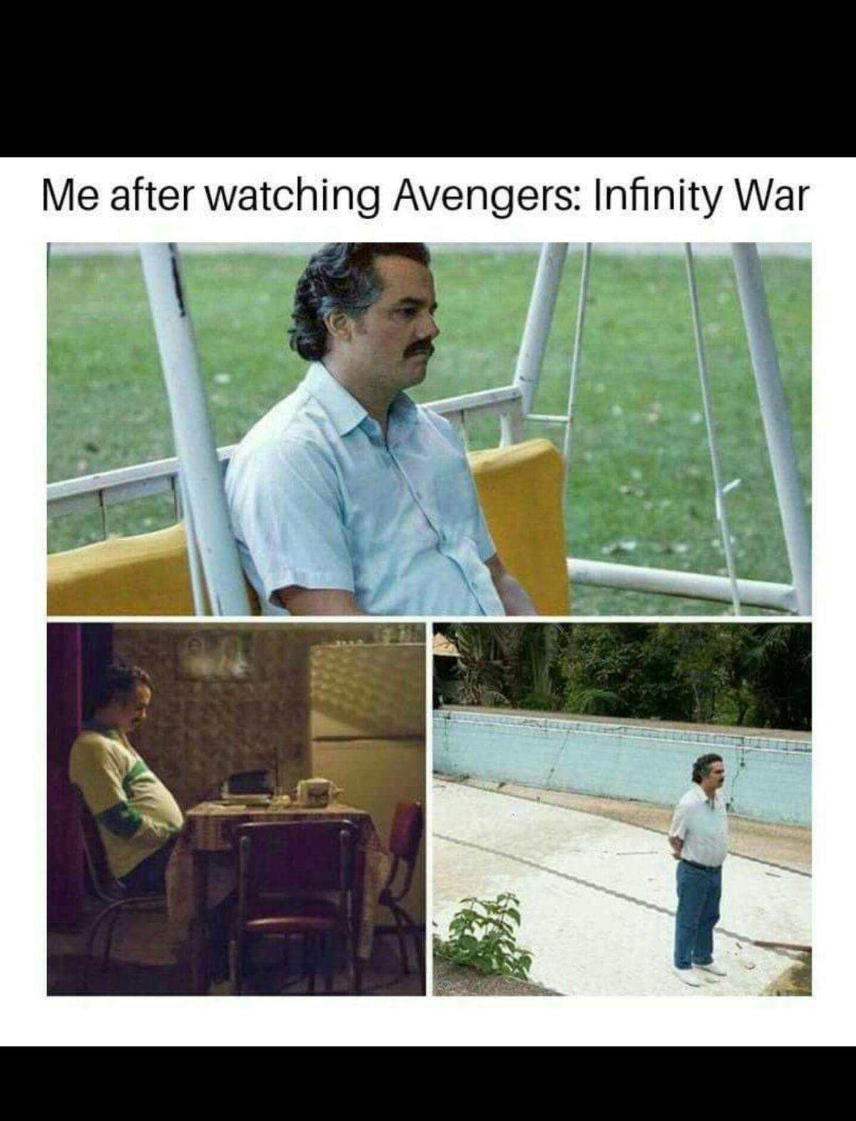life. . Me after watching Avengers: War. they'll come back, the time stone can do that and strange said it's the only way, as in this is the one way for this to go right