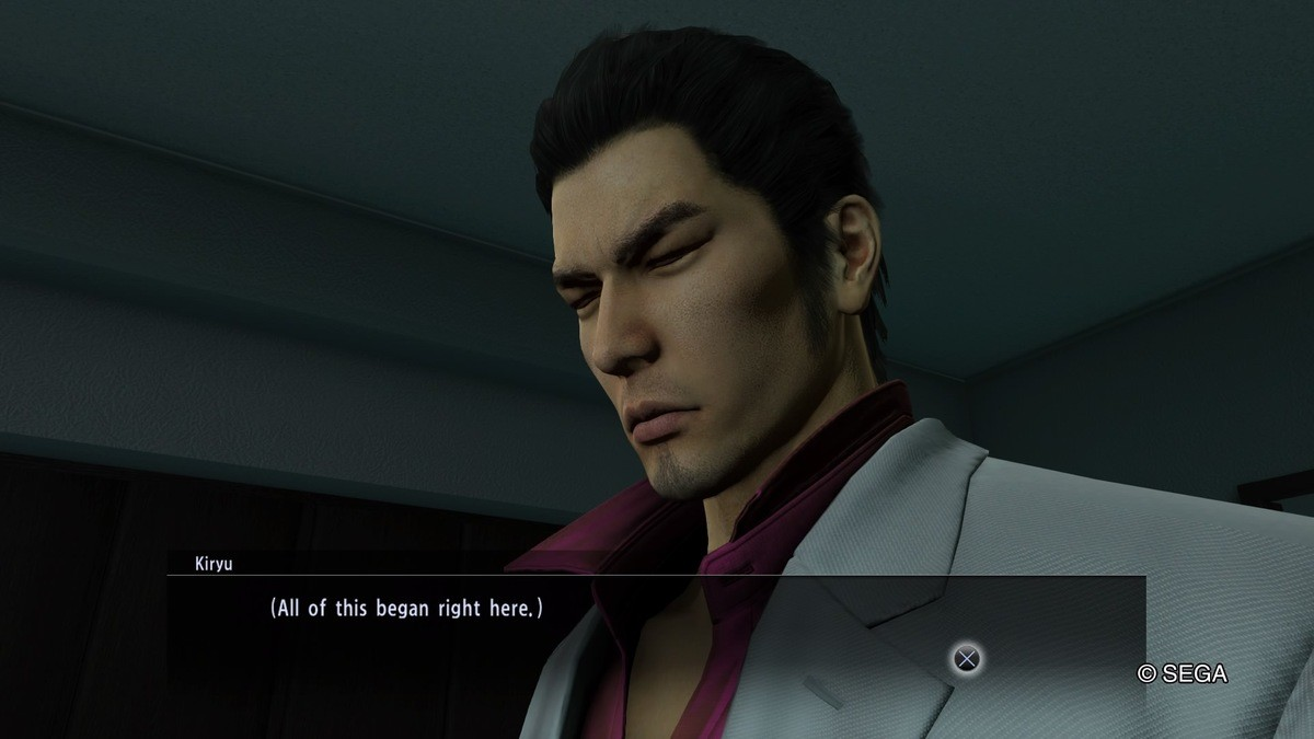 Like a Dragon KIWAMI - Part 11. Pic: Kiryu back at Dojima Family office. Remembering what had happened 10 years ago. We are at the home-stretch of these comps.
