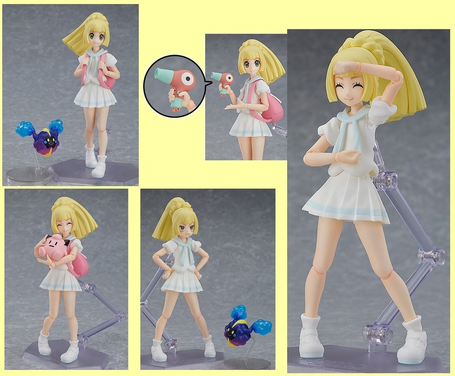Lillie's new figure coming out in November. · She comes with three face plates including a smile, a beaming smile, as well as an angry expression. · In addition