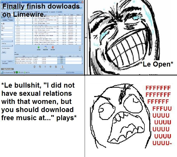 """LimeWire. Classic Limewire. IE I 1 is bullshit, ''I did not have sexual relations with that women, but FFCCFF you should download free music at... plays Um"""" UGU"""