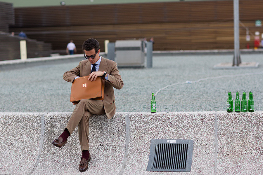 """Liquid Business Lunch. """"Maybe a short nap before I go back to the office...""""."""