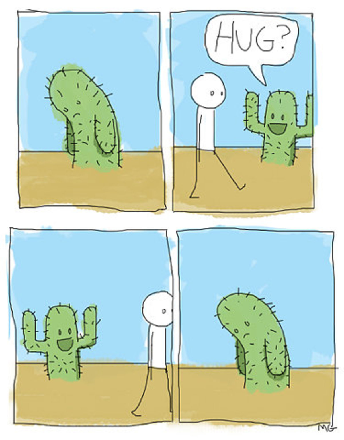 """Lonely Cactus"". >Have a great day!.. He's coming to your , ooxxshieldxxoo."