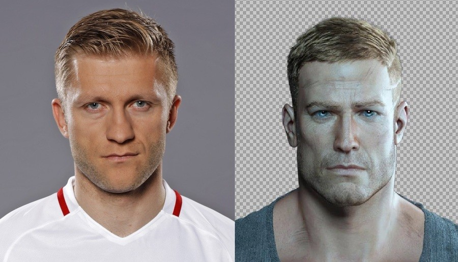 "Looks like. Polish football (soccer) player Jakub Błaszczykowski & William ""B.J."" Blazkowicz.. I like how Blazkowicz looks like the guy from the 1st wolfenstein but in HD"