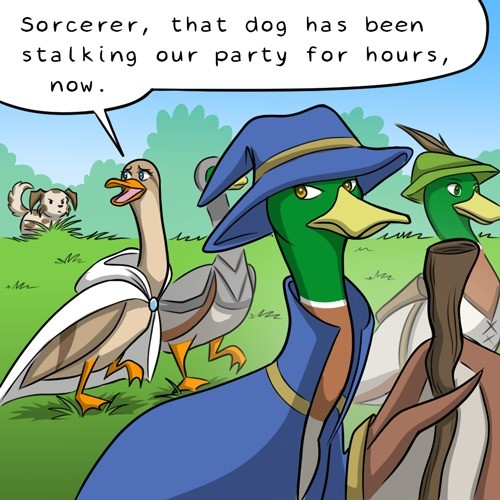 Magical Duckventures. https://katraccoon.com/. Sorcerer, that dog has been stalking our party for hours,. But how exactly was he able to create such an illusion?