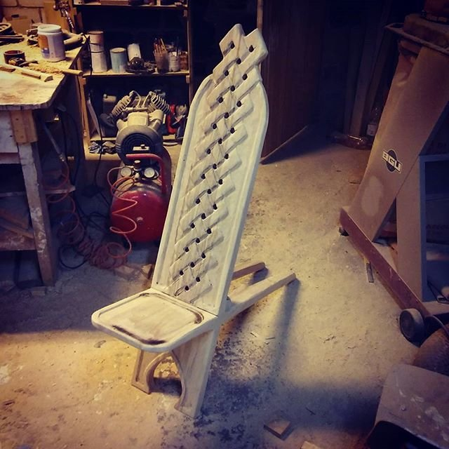 Making a bog chair. Made a bog chair for my birthday. Sorry, i didn't take the first picture. Just imagine two planks. It's kinda nice for ice fishing and more