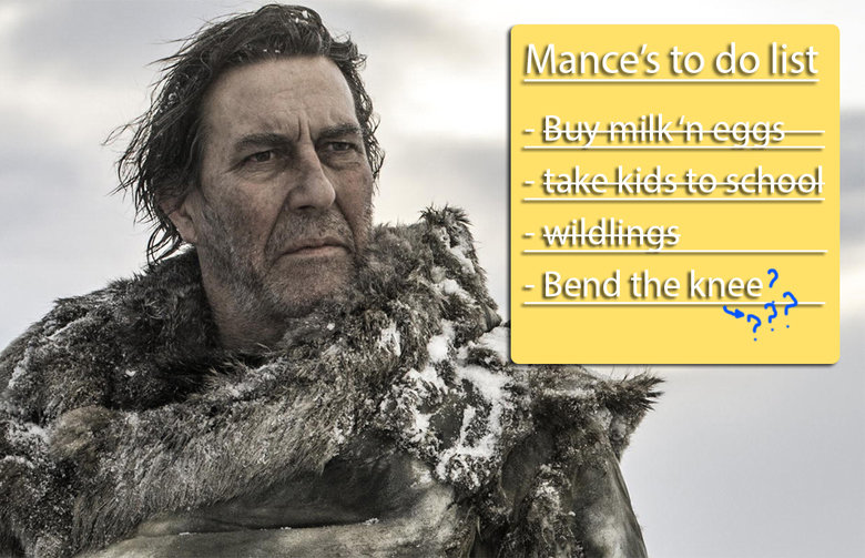 Mance's chances. . sit. Bend the knee you say?