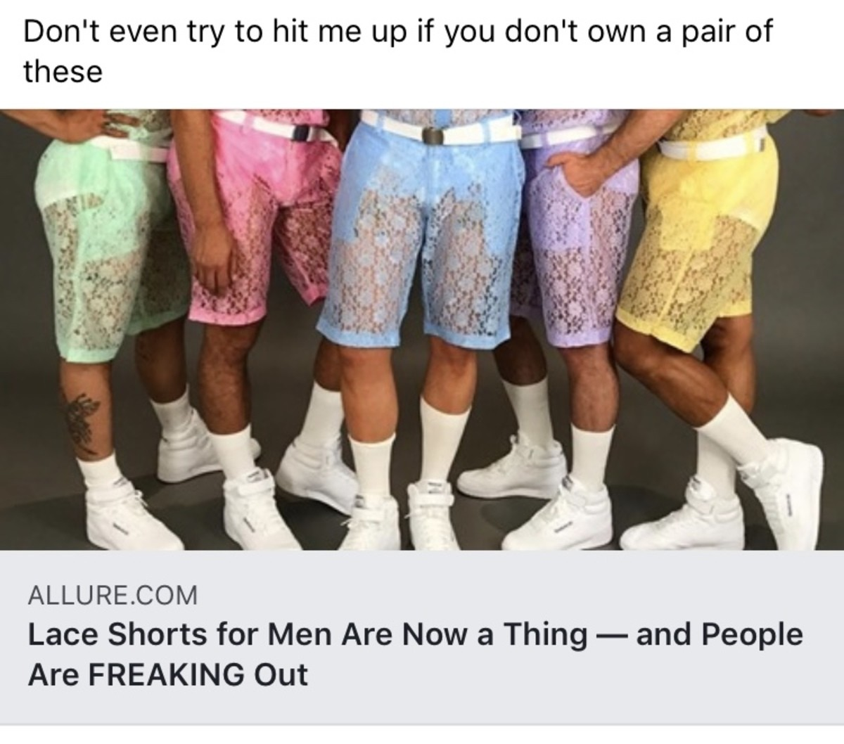 Manly Shorts. .. Those look gay as . Where can I buy them?